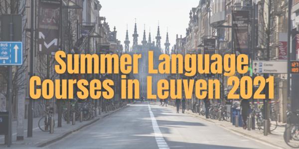 Summer 2021 Languag Courses In Leuven